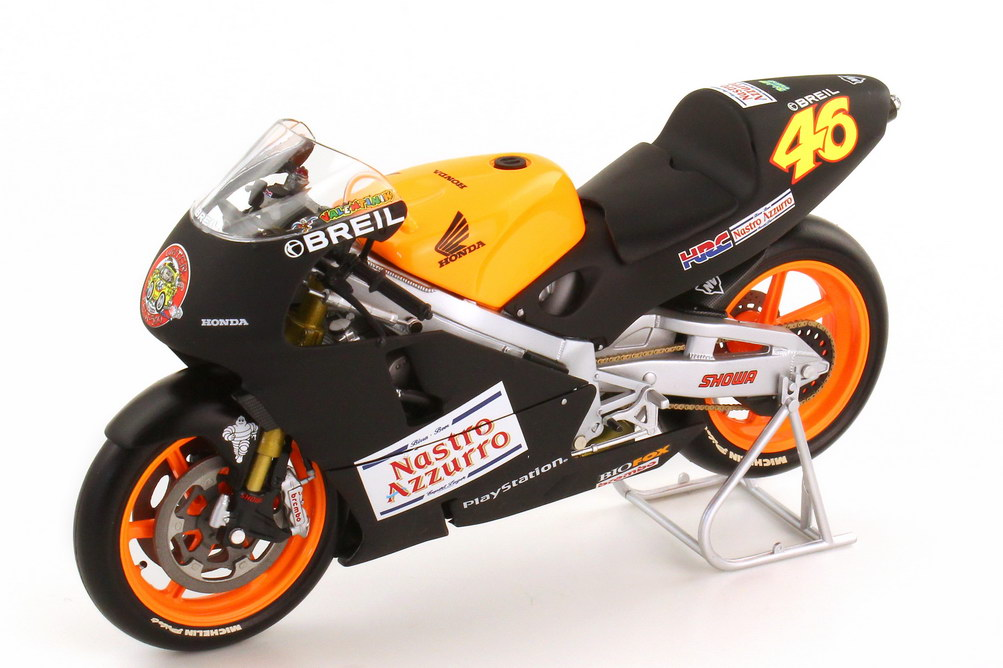 1:12 Honda NSR 500 500-ccm 2000 Pre-Season Testbike schwarz orange Nr.46, Valentino Rossi