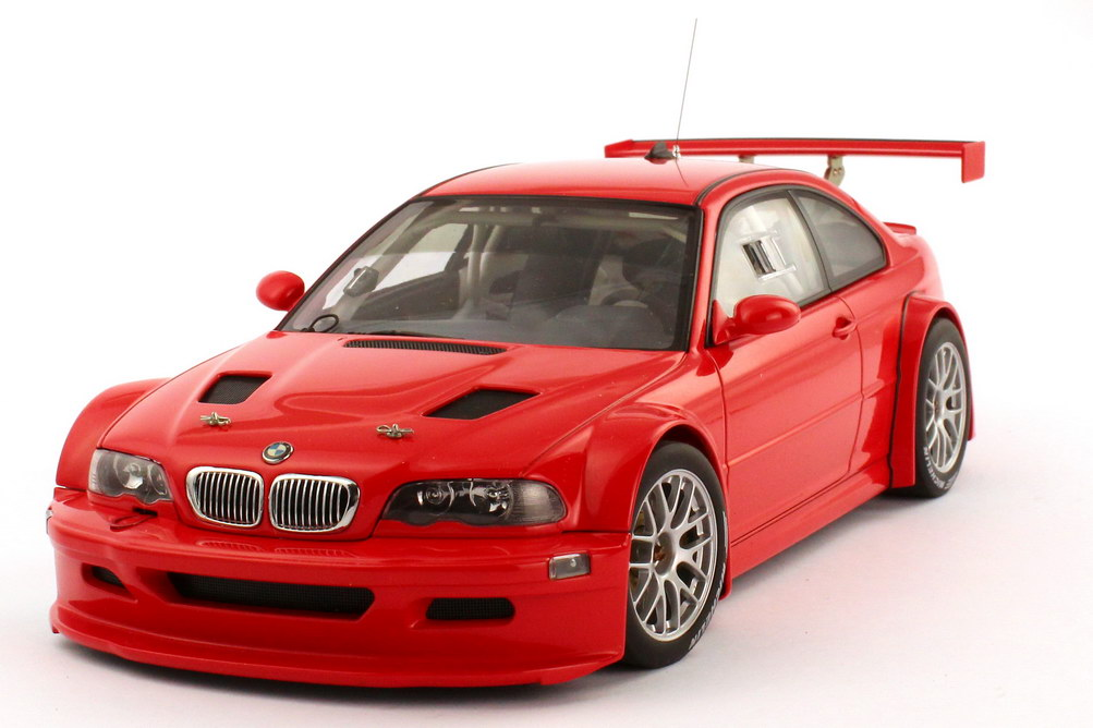 1:18 BMW M3 GTR (E46) Nürburgring 2005 Plain Body Version rot