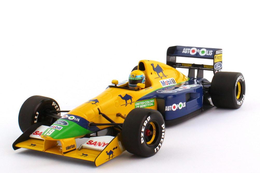 Foto 1:18 Benetton Ford B191 Formel 1 1991 Nr.19 Roberto Moreno - Minichamps 100910019