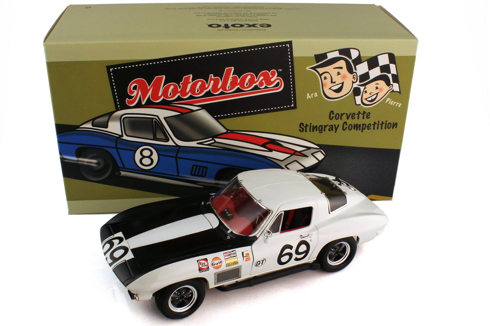 1:18 Chevrolet Corvette Sting Ray Competition Sebring 12 Hours 1967 Nr.69, Jowett Jr. / Mouat