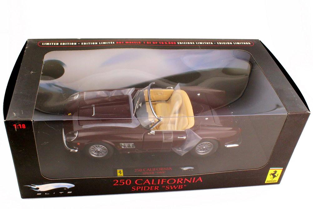 1:18 Ferrari 250 GT California Spyder SWB weinrot-met.