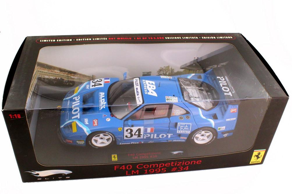 Foto 1:18 Ferrari F40 LM 24h von Le Mans 1995 Pilot Aldix Racing Nr.34 Ferté Thévenin Palau - Elite N2071