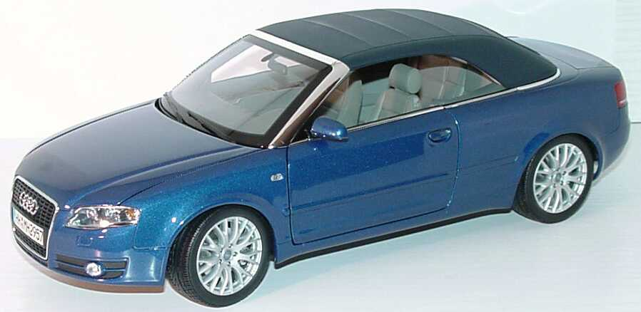 1 18 audi a4 cabrio b6 facelift 2005 mauritiusblau blau. Black Bedroom Furniture Sets. Home Design Ideas