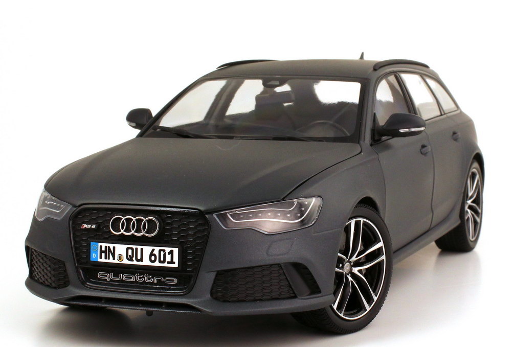 1 18 audi rs6 avant c7 daytona grau matt werbemodell. Black Bedroom Furniture Sets. Home Design Ideas