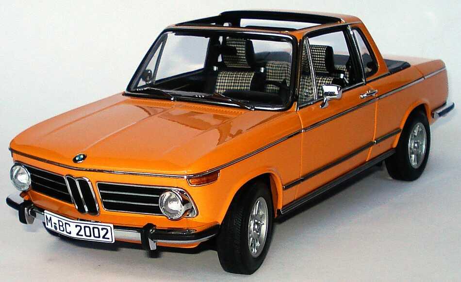bmw 2002 baur cabrio orange werbemodell autoart. Black Bedroom Furniture Sets. Home Design Ideas