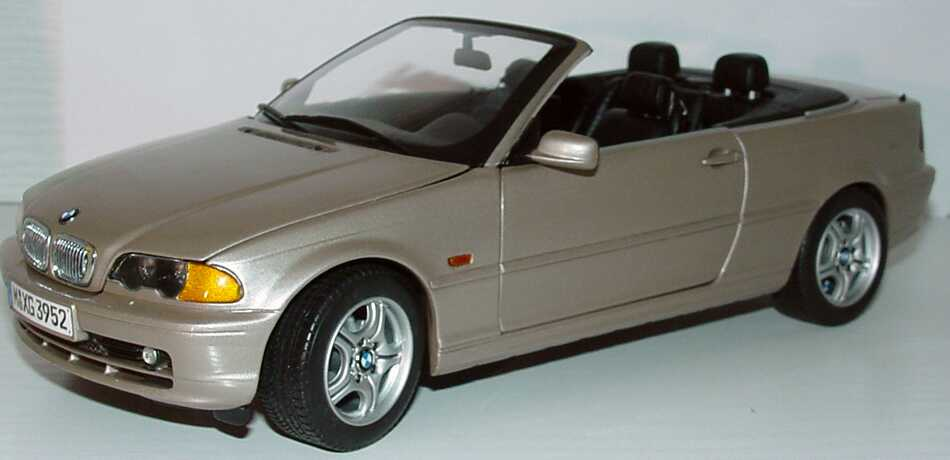 bmw 328i cabrio e46 sandbeige met werbemodell kyosho. Black Bedroom Furniture Sets. Home Design Ideas