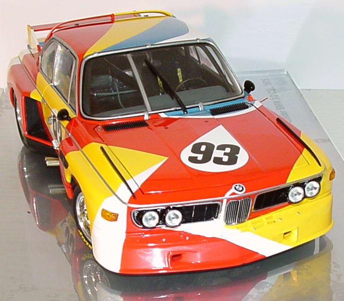 bmw 3 5 csl art car 1975 alexander calder 24 stunden von lemans 1975 werbemodell. Black Bedroom Furniture Sets. Home Design Ideas