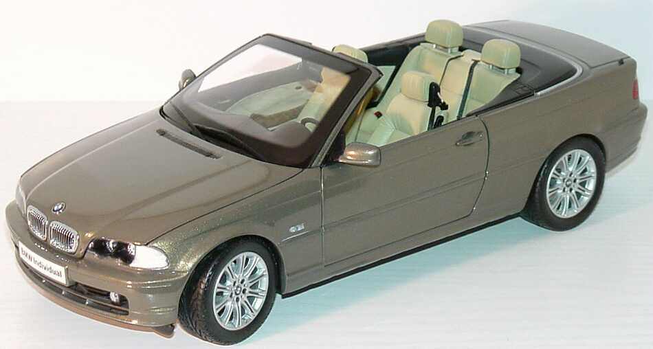 bmw 3er cabrio e46 individual messing met werbemodell. Black Bedroom Furniture Sets. Home Design Ideas