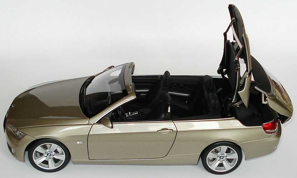 1 18 bmw 3er cabrio 2007 e93 platinbronze bmw promo ebay. Black Bedroom Furniture Sets. Home Design Ideas
