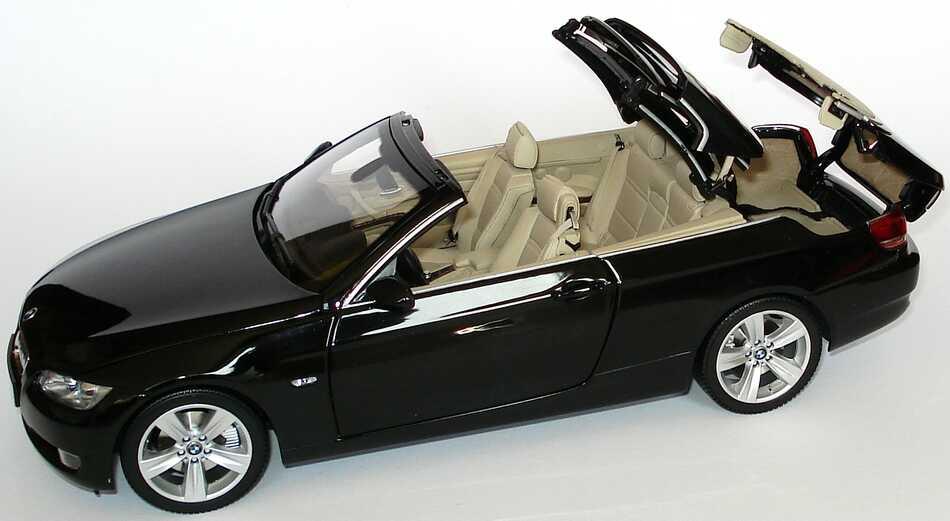 bmw 3er cabrio e93 saphirschwarz met werbemodell kyosho. Black Bedroom Furniture Sets. Home Design Ideas