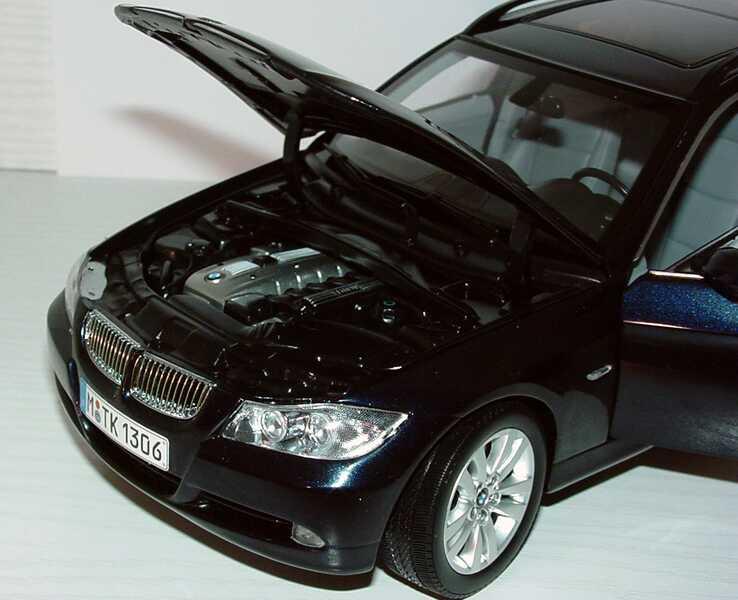 Foto 1:18 BMW 3er touring (E91) monacoblau-met. Werbemodell Kyosho 80430394361