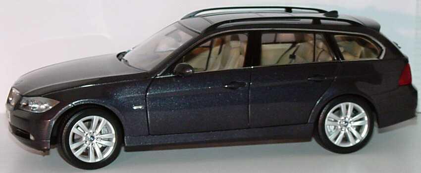 Foto 1:18 BMW 3er touring (E91) sparkling-graphit-met. Werbemodell Kyosho 80430394362