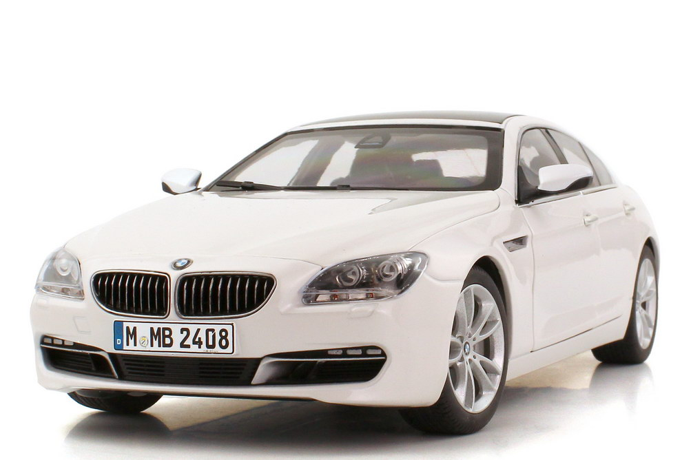1 18 bmw 6er gran coup 650i f06 mineral white wei paragon dealer edition ebay. Black Bedroom Furniture Sets. Home Design Ideas