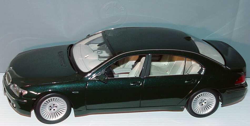 1 18 bmw 7er lang facelift e66 tiefgr n met werbemodell kyosho 80430403518. Black Bedroom Furniture Sets. Home Design Ideas