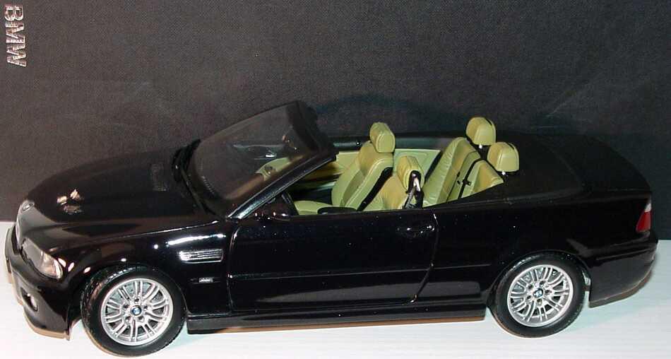 1 18 bmw m3 cabrio e46 schwarz werbemodell kyosho. Black Bedroom Furniture Sets. Home Design Ideas