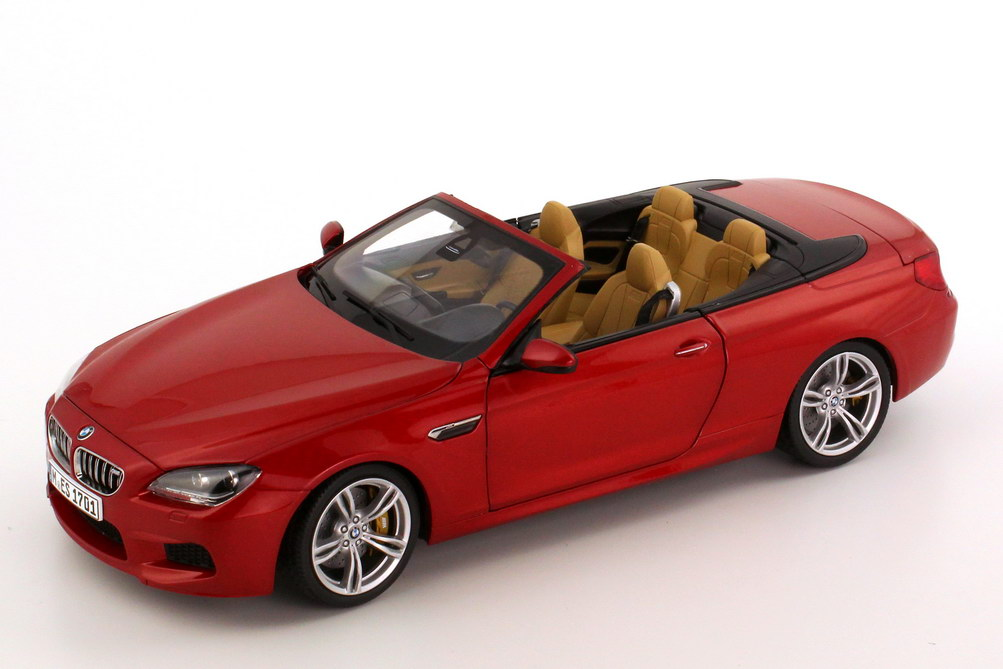 Foto 1:18 BMW M6 Cabrio (F12) saphir-orange-met. Werbemodell BMW-Group 80432253655