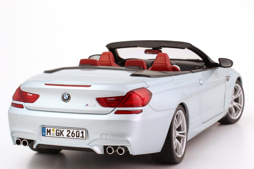 Foto 1:18 BMW M6 Cabrio (F12) silverstone-II-met. Werbemodell BMW-Group 80432253656
