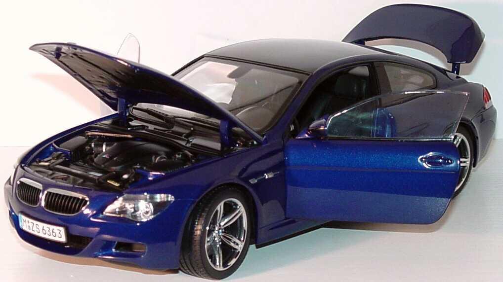 Foto 1:18 BMW M6 Coupé (E63) interlagosblue-met. Werbemodell Kyosho 80430413351