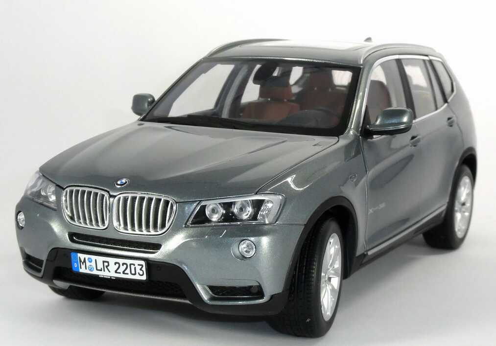 1 18 bmw x3 xdrive 35i f25 spacegrau met werbemodell autoart 80432162527. Black Bedroom Furniture Sets. Home Design Ideas