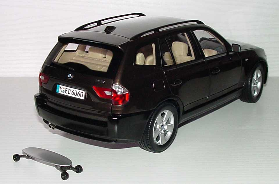 bmw x3 mokkabraun met werbemodell kyosho 80430300736 bild 3. Black Bedroom Furniture Sets. Home Design Ideas