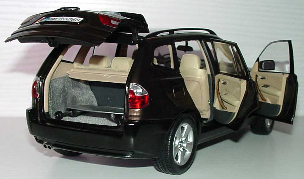bmw x3 e83 mokkabraun met werbemodell kyosho 80430300736 in der modellauto galerie. Black Bedroom Furniture Sets. Home Design Ideas