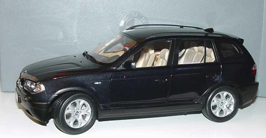 Foto 1:18 BMW X3 saphirschwarz-met. Werbemodell Kyosho 80430300734