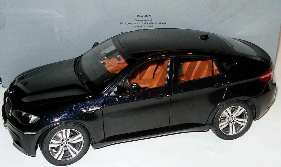 1 18 Bmw X6 M Carbonschwarz Met Werbemodell Kyosho