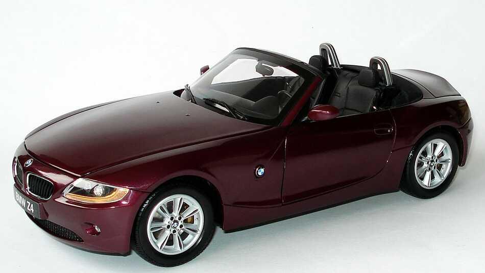 1 18 Bmw Z4 Roadster E85 Bordeauxrot Met Kyosho 08581r