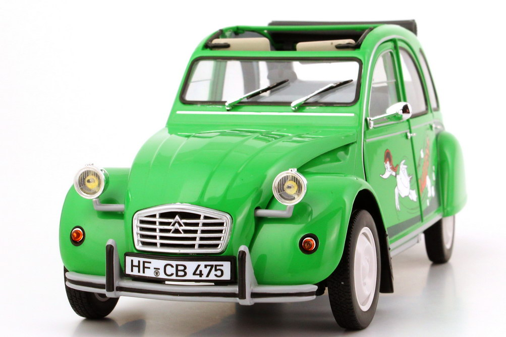 1 18 citroen 2cv6 club mit rolldach sausss ente gr n green limited edition 600 ebay. Black Bedroom Furniture Sets. Home Design Ideas