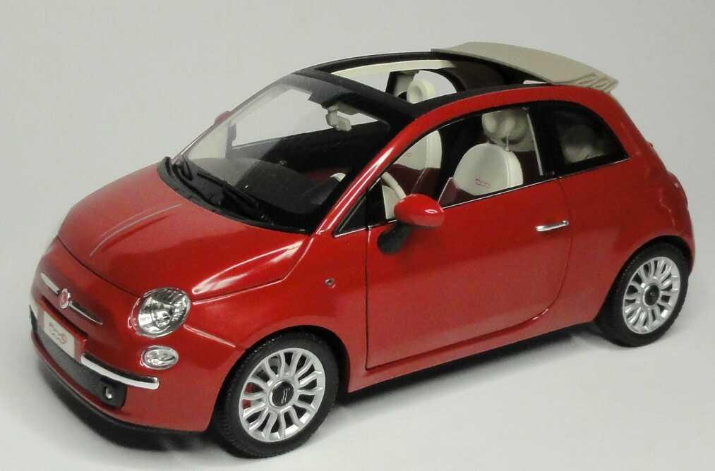 fiat 500c cabrio 2009 perl rot met norev 187705 in der. Black Bedroom Furniture Sets. Home Design Ideas