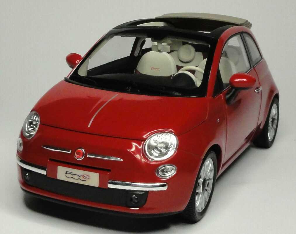 fiat 500c cabrio 2009 perl rot met norev 187705 bild 2. Black Bedroom Furniture Sets. Home Design Ideas
