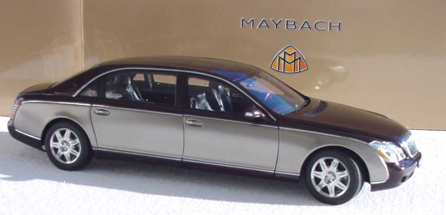 maybach 62 ayresrockred/dark werbemodell autoart b66962177 in der