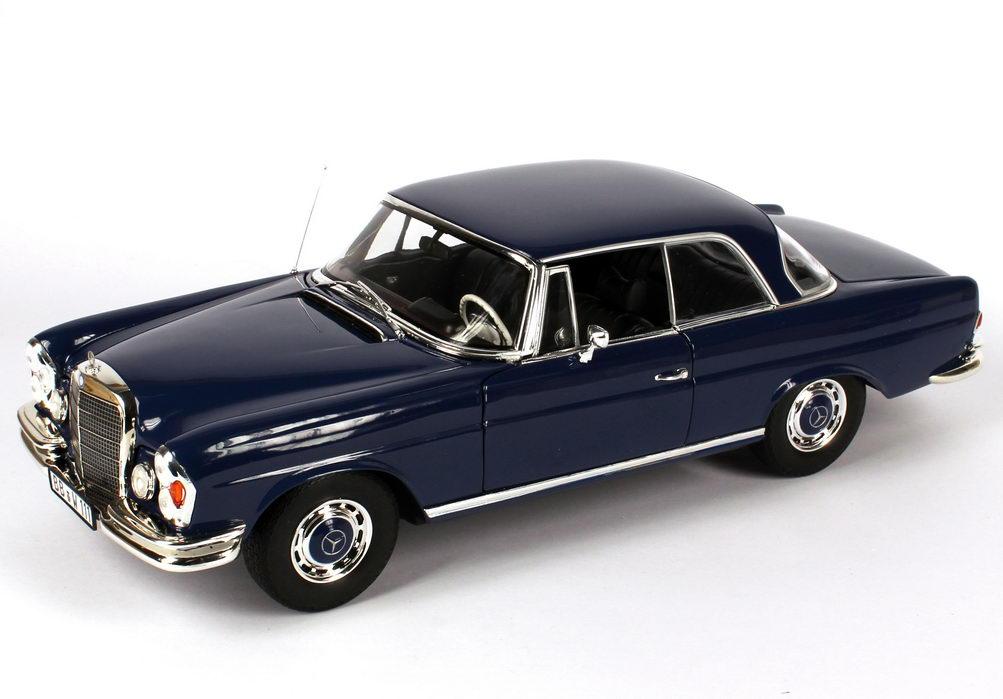 1 18 mercedes benz 280se coup w111 dunkel blau werbemodell norev b66960235. Black Bedroom Furniture Sets. Home Design Ideas