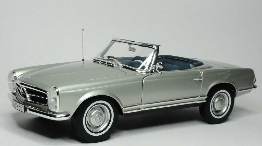 1 18 mercedes benz 280 sl pagode w113 silber met norev 183519. Black Bedroom Furniture Sets. Home Design Ideas