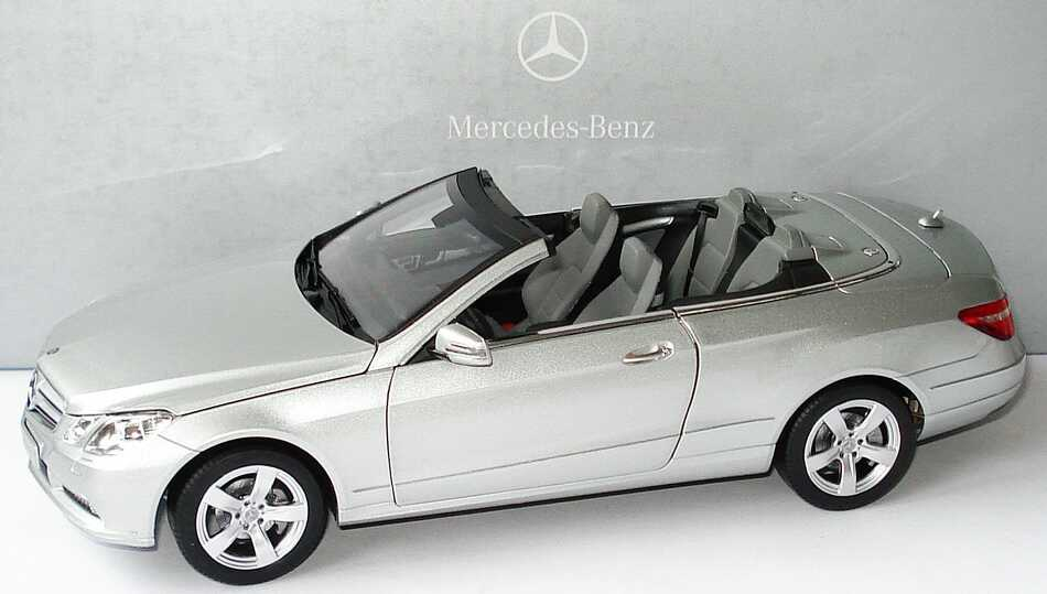 1 18 mercedes e klasse cabrio a207 iridiumsilber silver ebay. Black Bedroom Furniture Sets. Home Design Ideas
