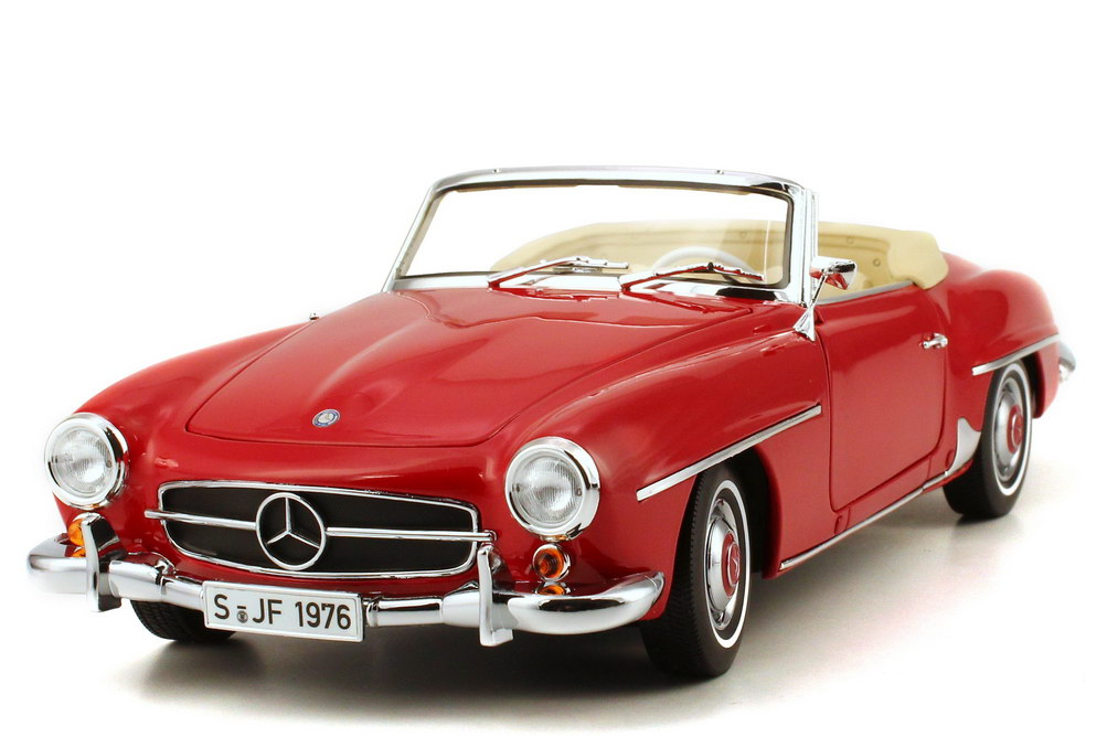 1 18 mercedes benz 190 sl w121 b 1957 rot red norev. Black Bedroom Furniture Sets. Home Design Ideas