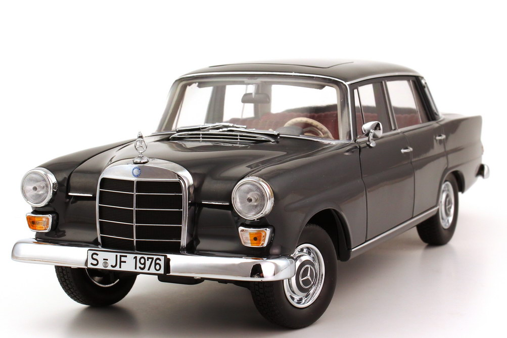 1 18 mercedes benz 200 aileron arri re w110 gris grey norev hq 183570 ebay. Black Bedroom Furniture Sets. Home Design Ideas