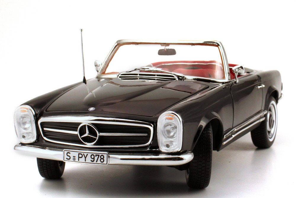1 18 mercedes benz 230 sl pagode w113 schwarz black norev 183517 ebay. Black Bedroom Furniture Sets. Home Design Ideas
