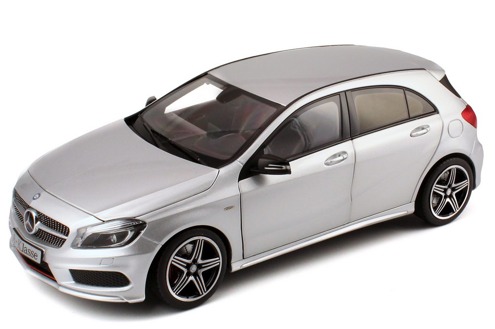 1 18 mercedes benz a klasse 2012 w176 sport polar silber met werbemodell norev b66960139. Black Bedroom Furniture Sets. Home Design Ideas