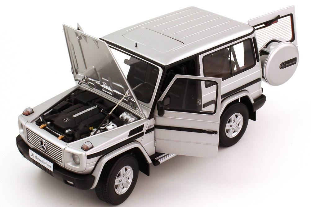 mercedes benz g modell kurz g 500 1989 w463 swb silber. Black Bedroom Furniture Sets. Home Design Ideas