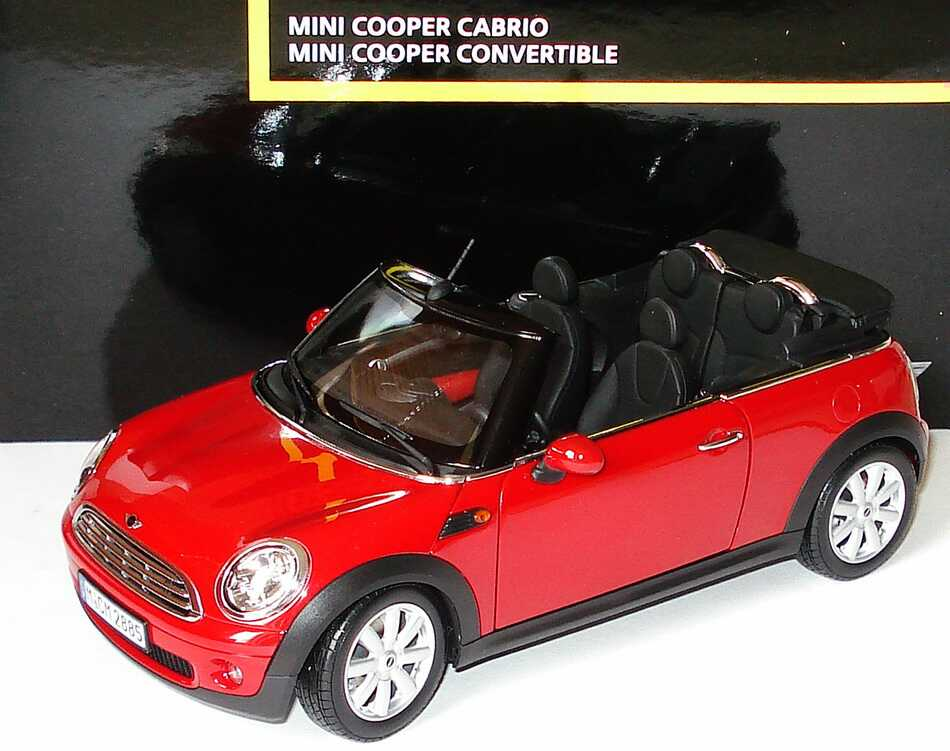 1 18 mini cooper cabrio r57 2009 chilired werbemodell kyosho 80432148810. Black Bedroom Furniture Sets. Home Design Ideas