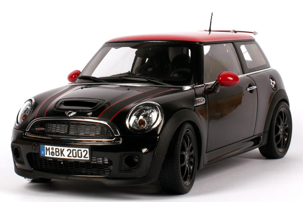 mini cooper s r56 lci john cooper works schwarz rot werbemodell kyosho 80432221453 in der. Black Bedroom Furniture Sets. Home Design Ideas