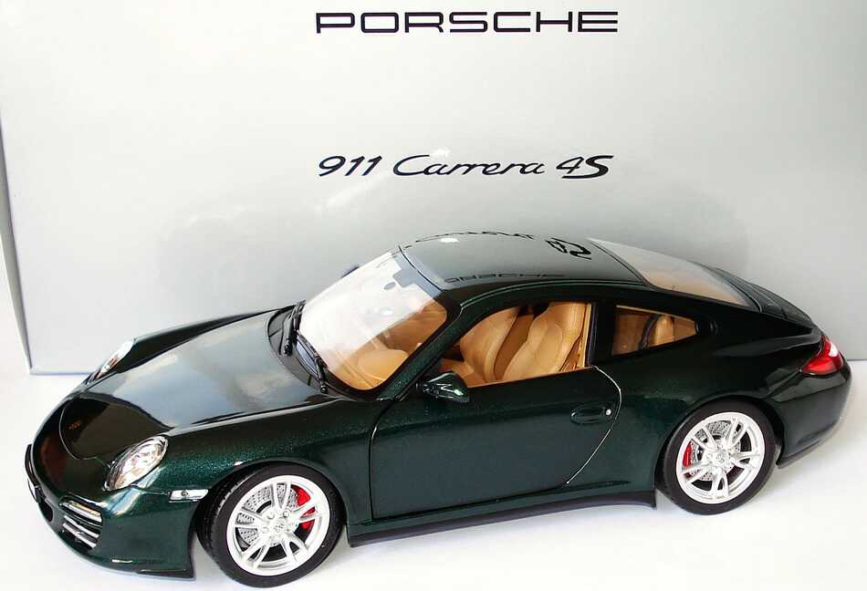 1 18 Porsche 911 Carrera 4s 997 Modell 2009 Racinggreen