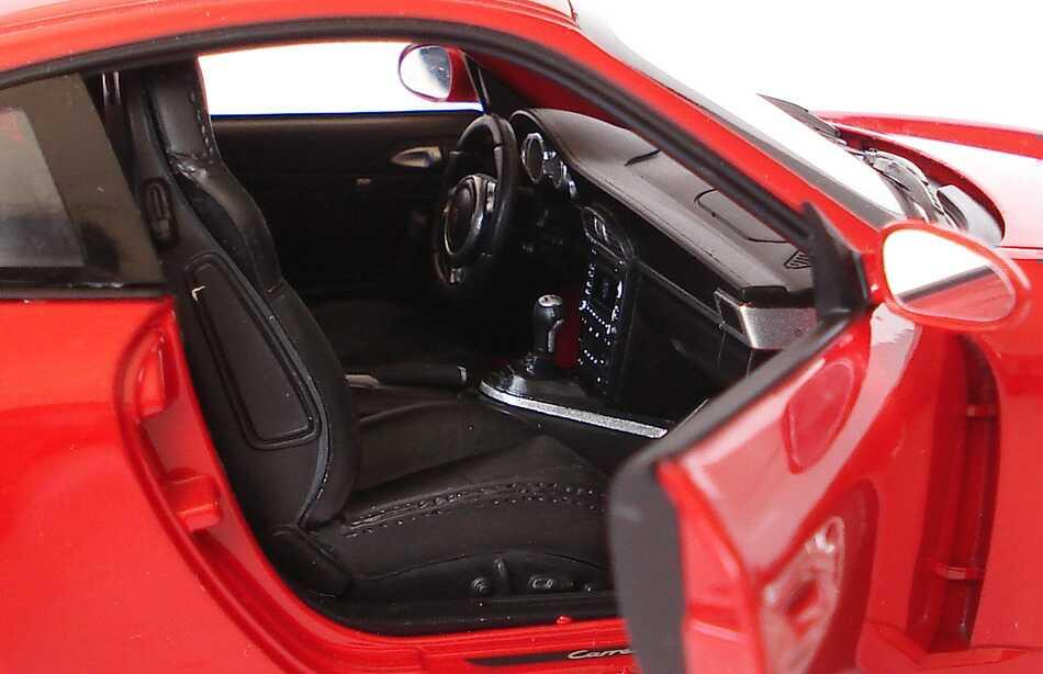 Foto 1:18 Porsche 911 Carrera S (997, Modell 2009) indischrot Werbemodell Norev WAP02101118
