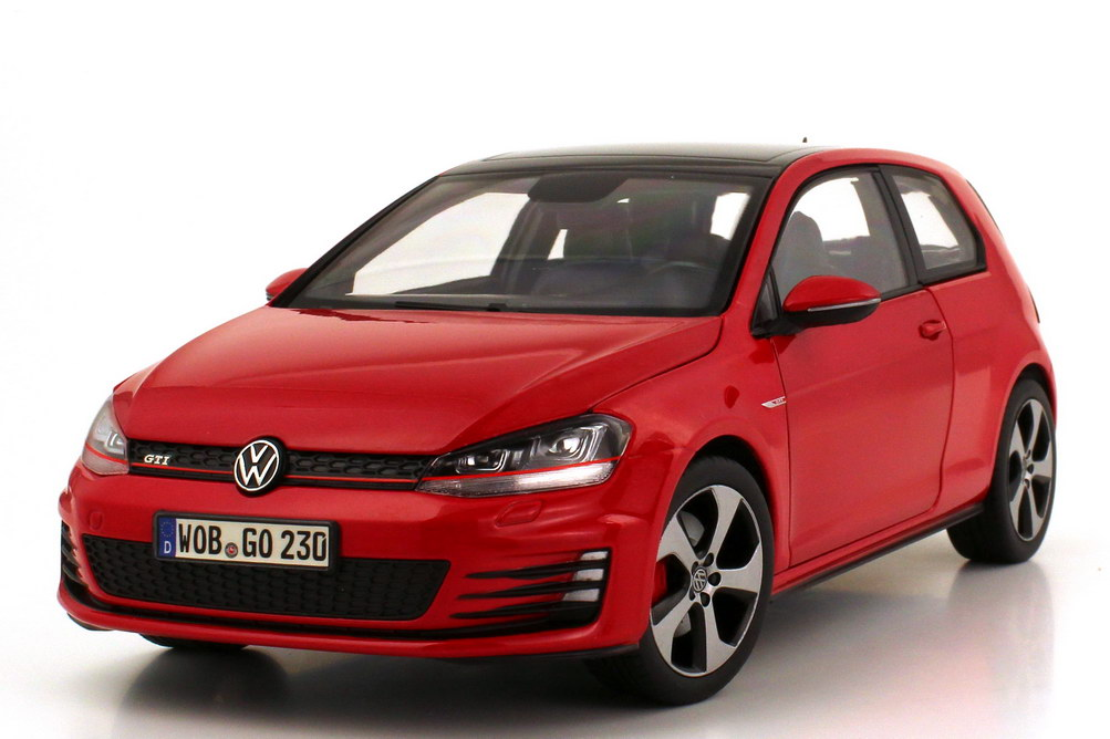 1 18 vw golf vii 7 gti 2013 tornado rot red volkswagen dealer edition oem ebay. Black Bedroom Furniture Sets. Home Design Ideas
