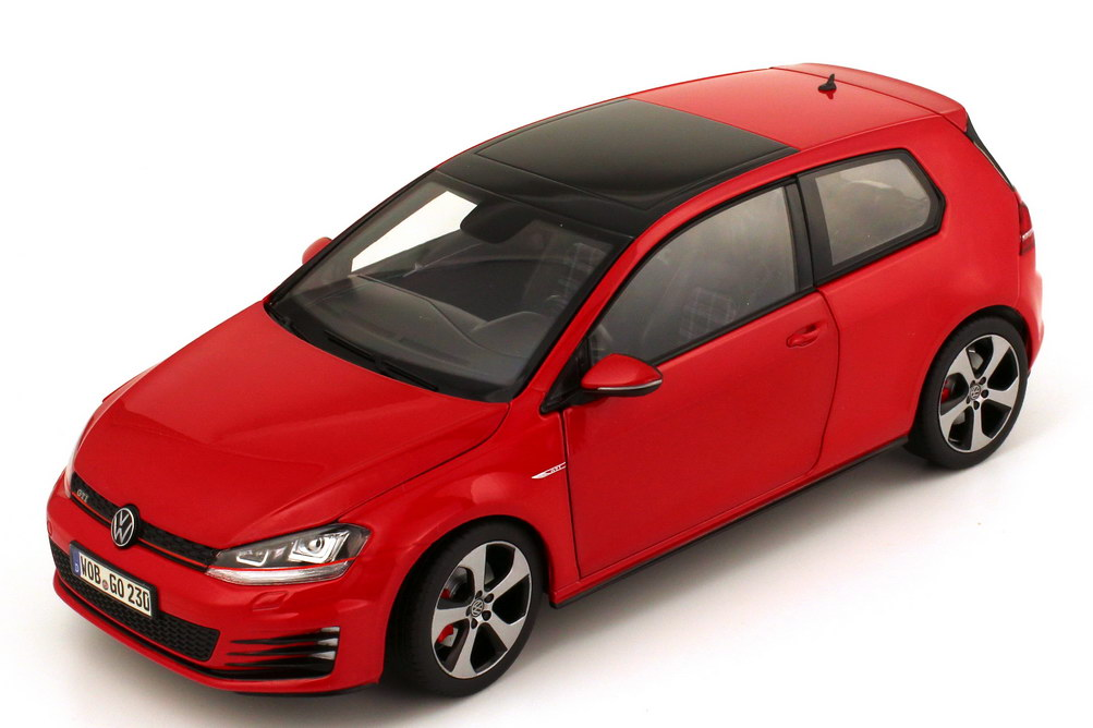 1 18 vw golf vii 7 gti 2013 tornado rouge red volkswagen dealer edition oem ebay. Black Bedroom Furniture Sets. Home Design Ideas
