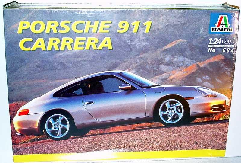 1 24 bausatz porsche 911 carrera 996 italeri 684. Black Bedroom Furniture Sets. Home Design Ideas