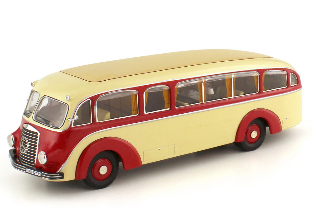 1:43 Mercedes-Benz LO 3500 Stromlinienbus elfenbein/rot