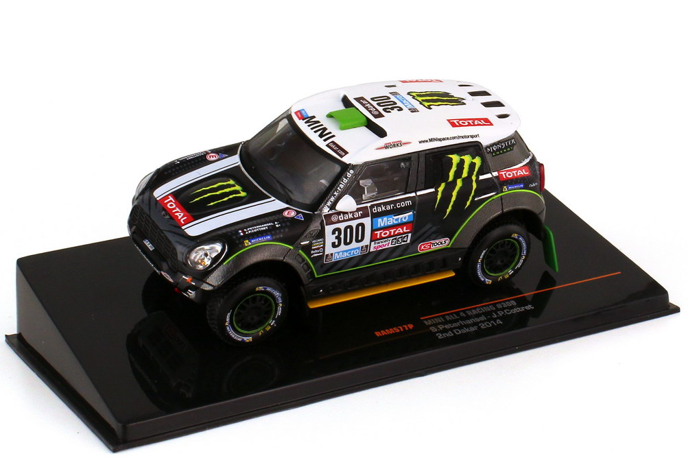 1:43 Mini ALL4 Racing Rallye Dakar 2014 Nr.300, Stéphane Peterhansel / Jean-Paul Cottret (2. Platz)