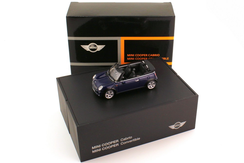 1:43 New Mini Cooper Cabrio (R52) black-eye-purple-met. (Mini)